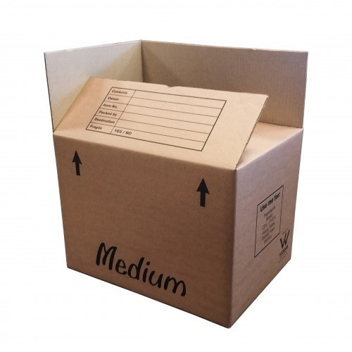Medium boxes for packing larger lighter items