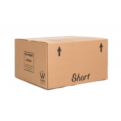 Small removal boxes for heavier items such as books